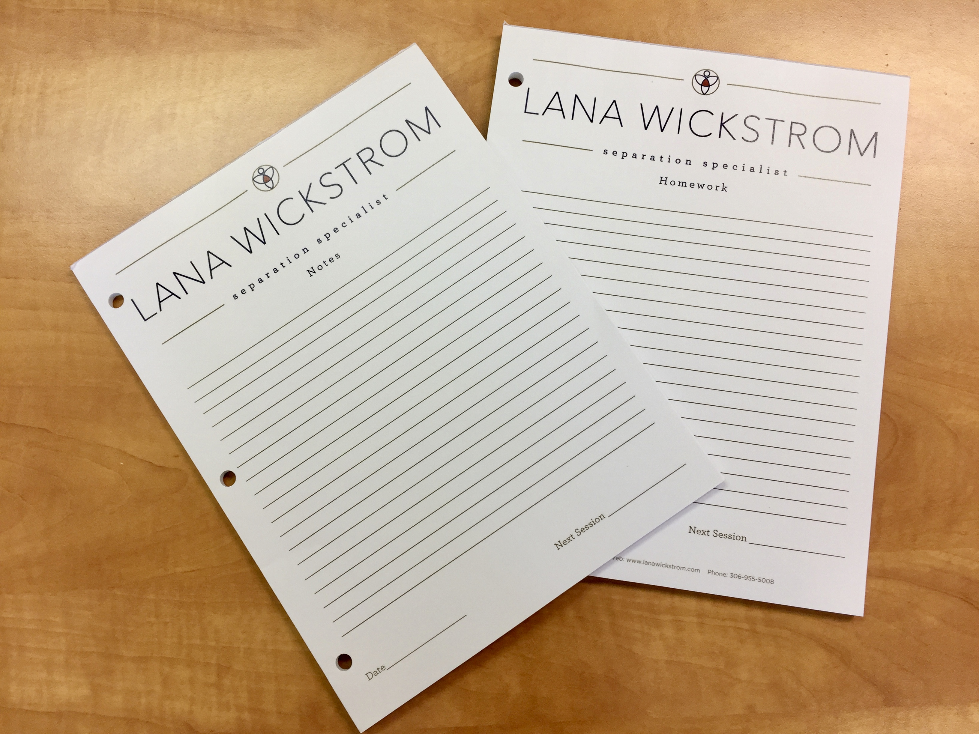 Custom Notepads – Lana Wickstrom