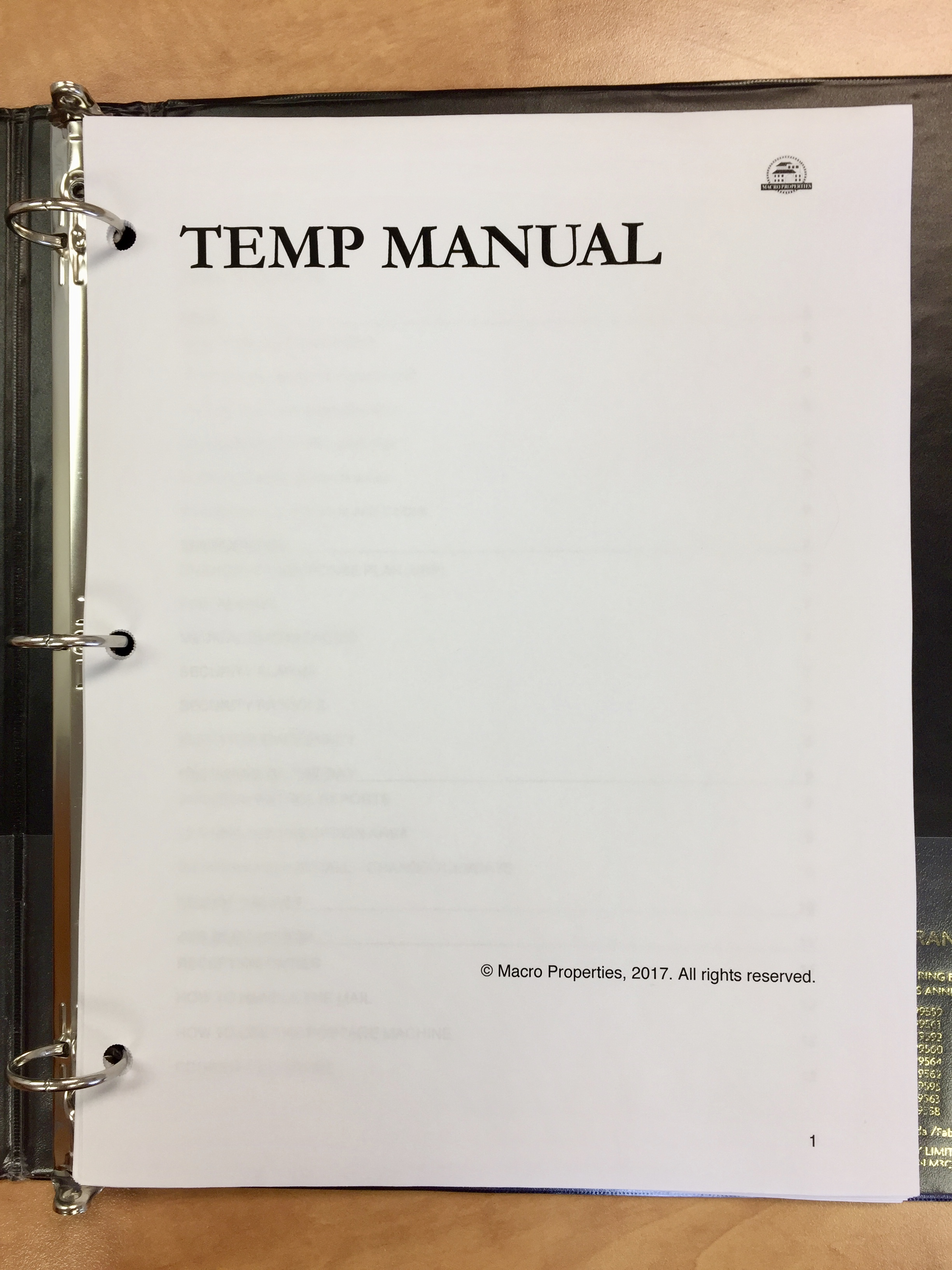 Temp Manual – Macro Properties